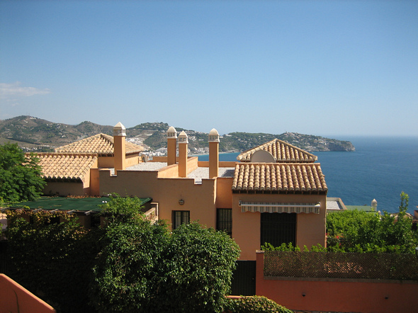 View from the villa of the bay to the Punta de la Mona.